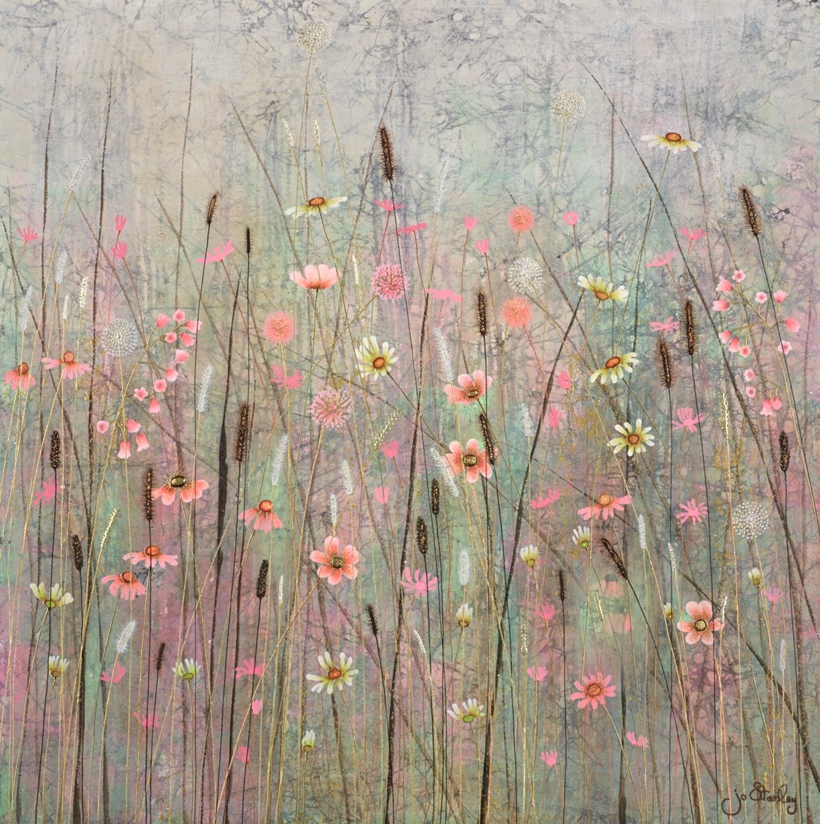 Pretty in Pink by jo starkey -  sized 28x28 inches. Available from Whitewall Galleries